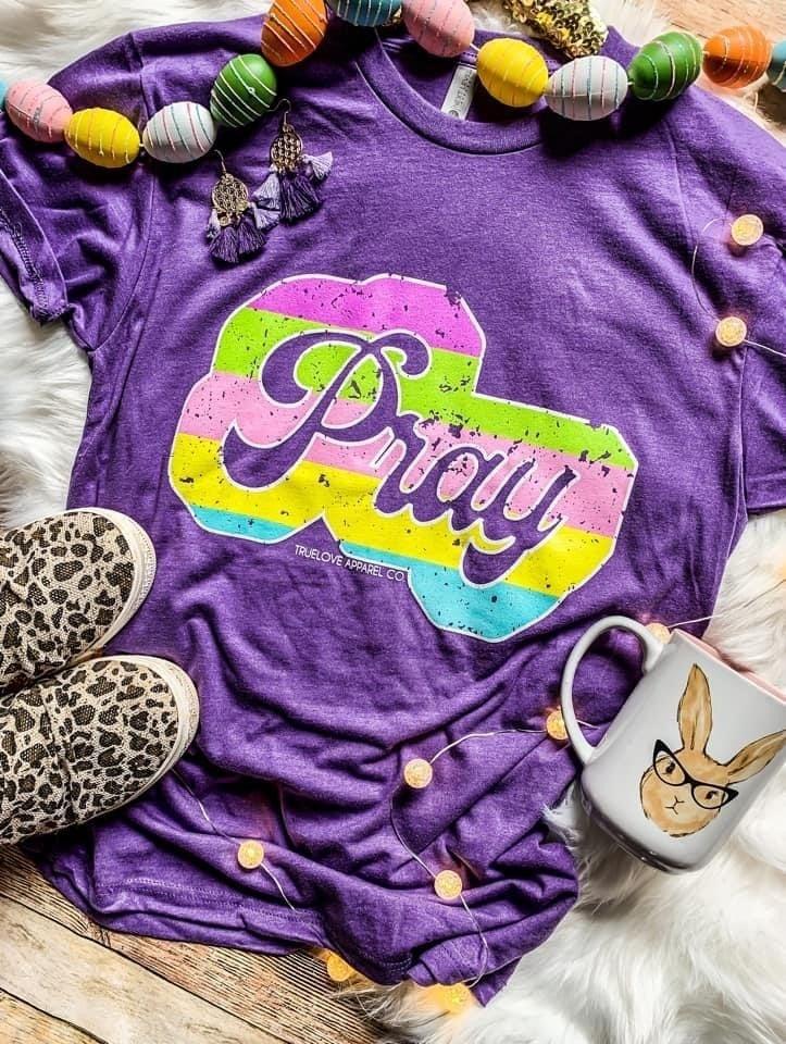 Multi Colored Pray Tee *Final Sale*