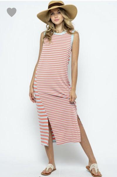 Tess Striped Midi Dress *Final Sale*