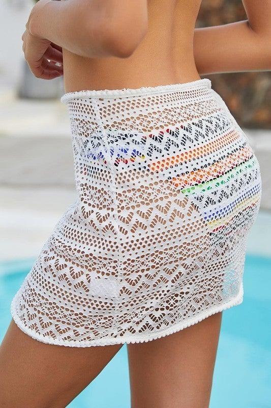 Stylish Crochet Sarong Cover up