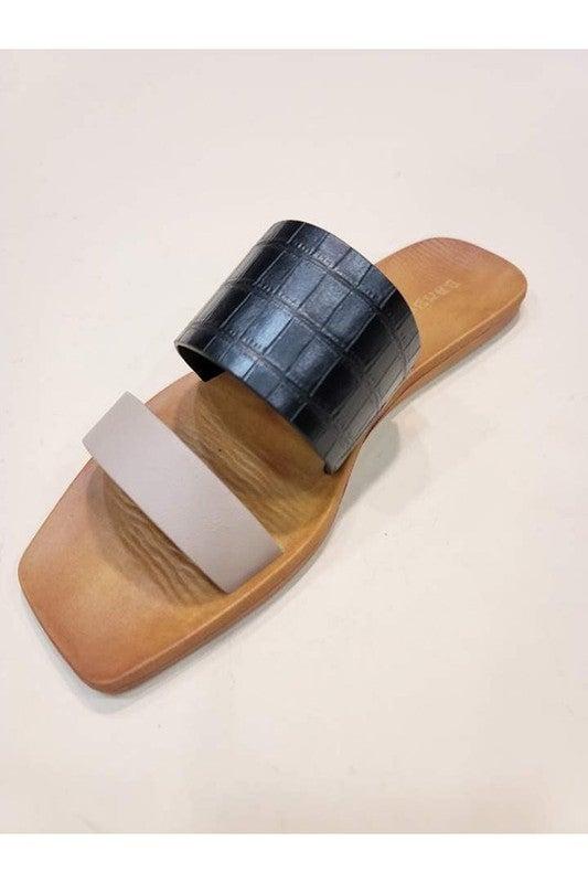 Square Toe Strap Sandals