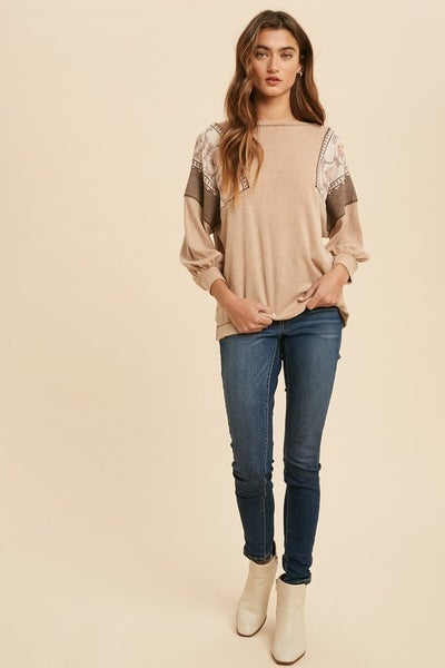 Boston Contrast Knit Top
