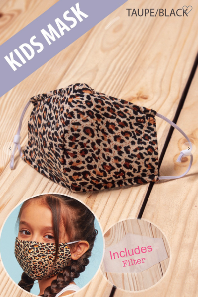 Kids Leopard Adjustable Mask