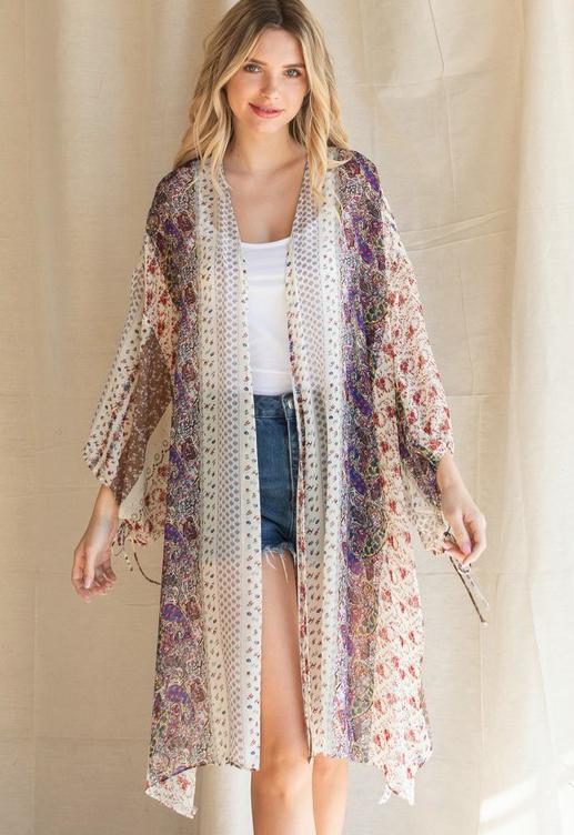 Boho Paisley Kimono