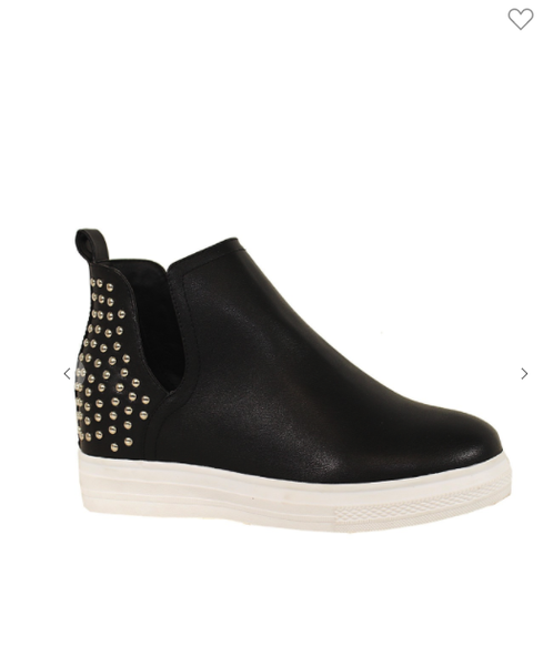 Studded Wedge Bootie