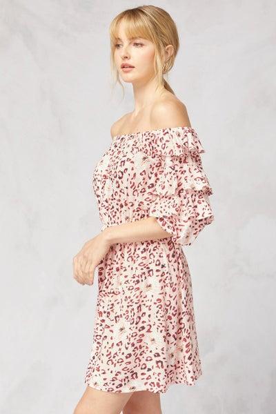 Ashley Ruffle Sleeve Dress