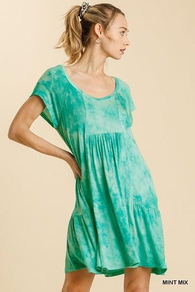 Pleated Shannon Tie Dye Dress