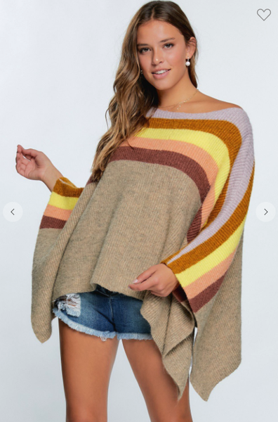 Leslie Colored Poncho