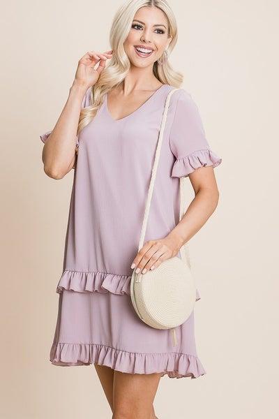 Kathy Ruffle Dress