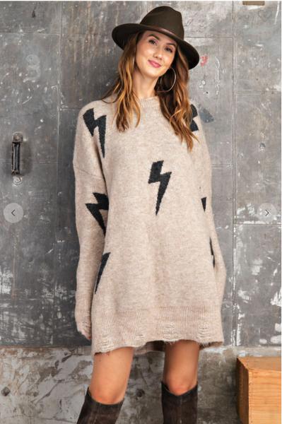 Lighting Bolt Sweater Dress