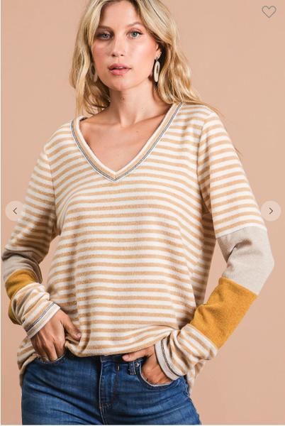 Eva Striped Soft Top