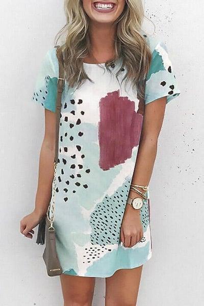 Traveler Printed Mini Dress