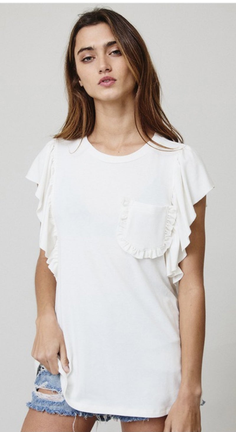 Pocket Ruffle Tee