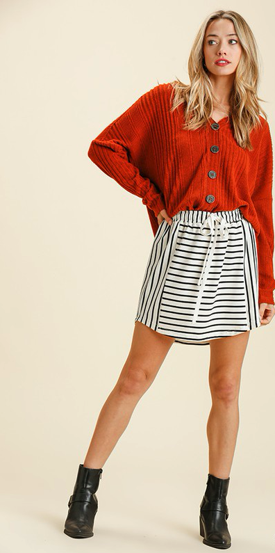 Striped Macon Skirt