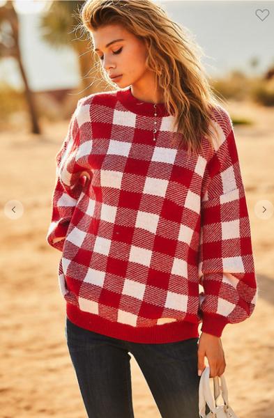 Plaid Oversized Sweater