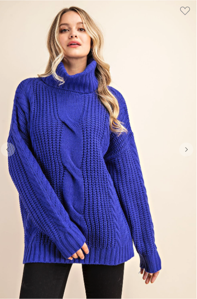 The Royal Blue Knit Sweater