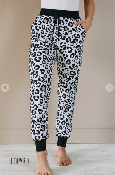 New Cozy Leopard Joggers