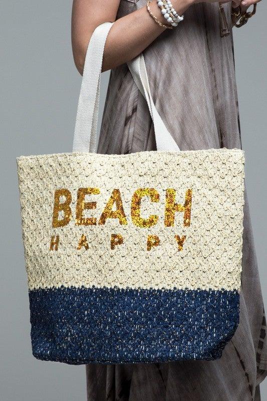 Beach Happy Woven Tote