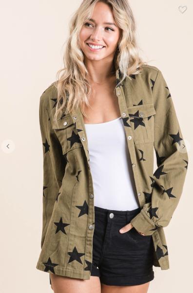 Vintage Olive Military Jacket