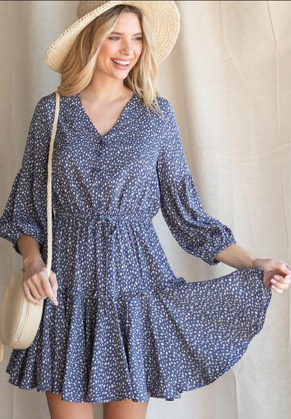 Lindsay Spotted Dress