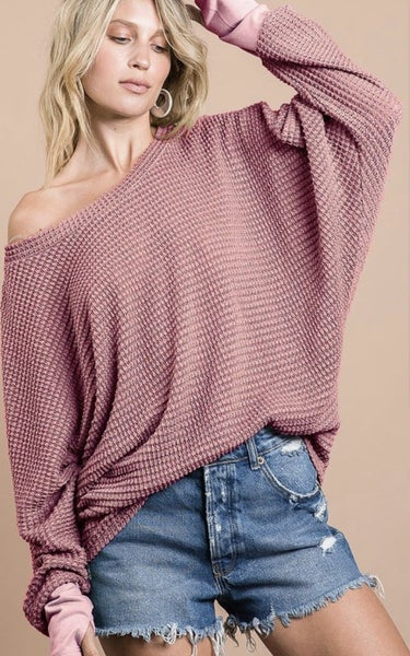 The Best Popcorn Waffle Knit Top