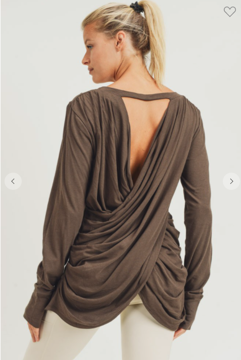 Open Overlay Draped Back Top *Final Sale*