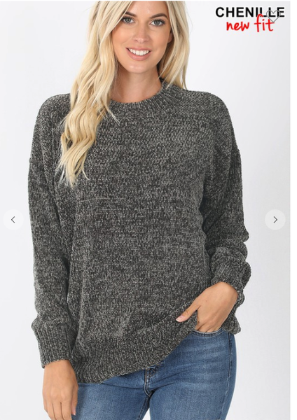 Chenille Basic Sweater