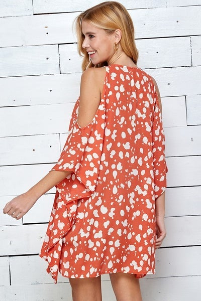 Cody Coral Print Dress