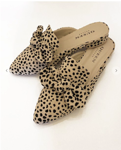 Leopard Bow Slide