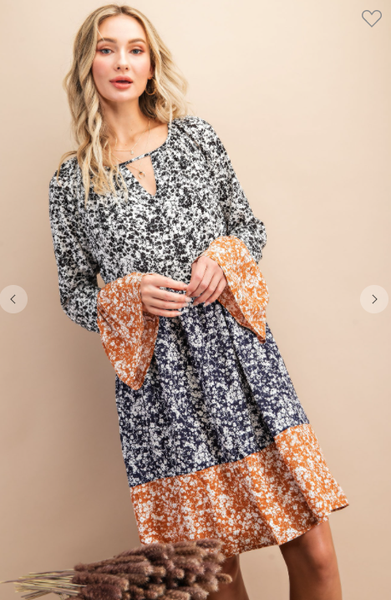 Jennifer Floral Woven Dress