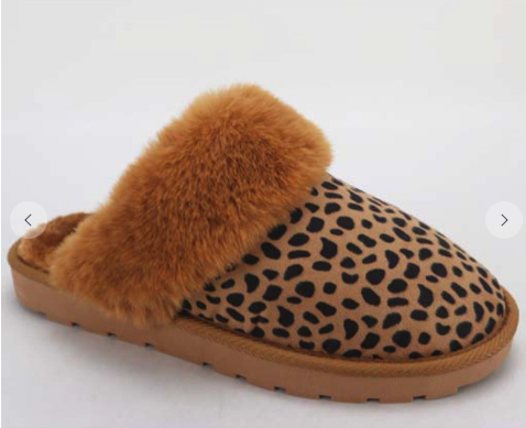 Leopard Snuggle Up Slippers