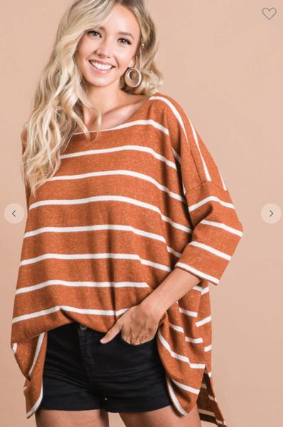 Brushed Stripe Hacci Top