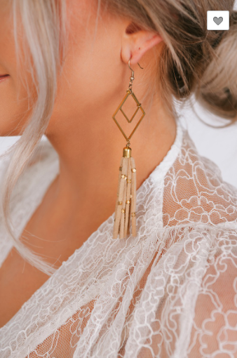 Square Tassel Earrings