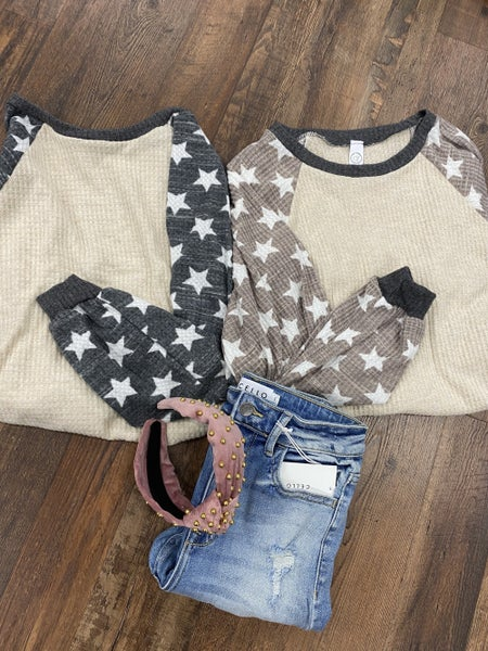 Star Sleeve Thermal Top