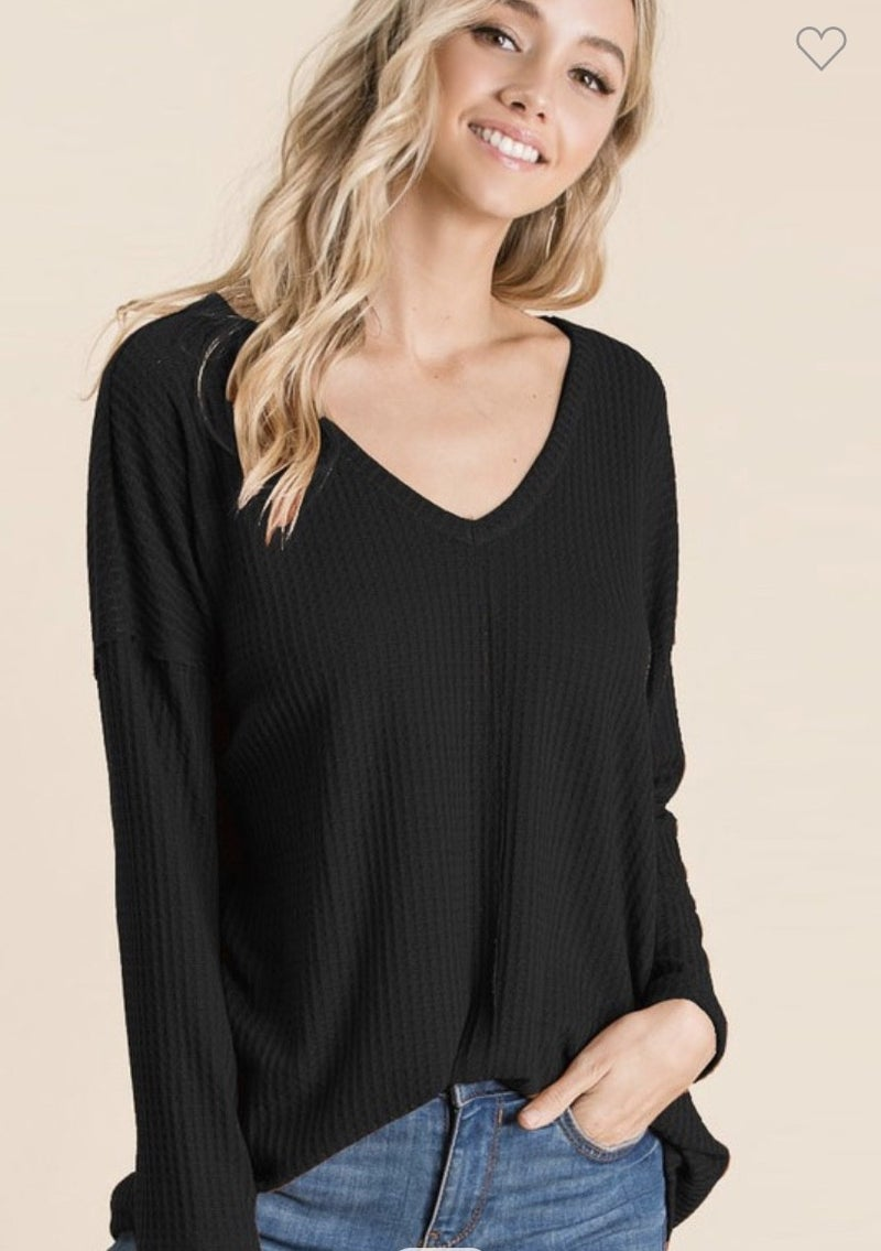 The Coziest V-Neck Thermal