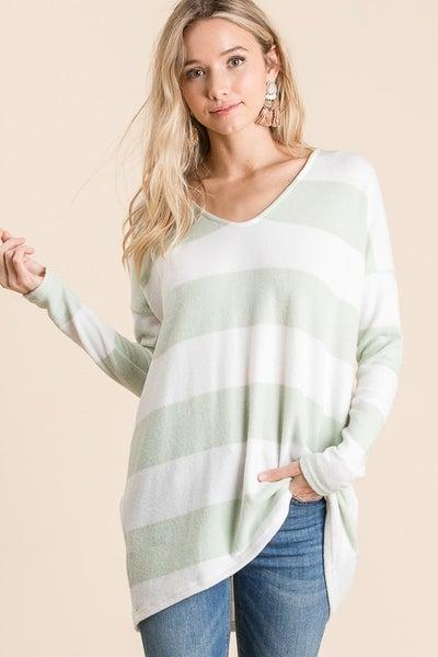 Blanket Soft Striped Tunic