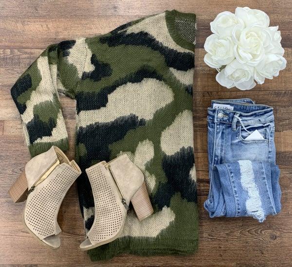 Camo Pullover Sweater