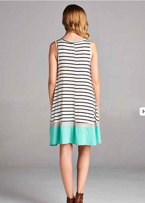 Pop of Mint Swing Dress