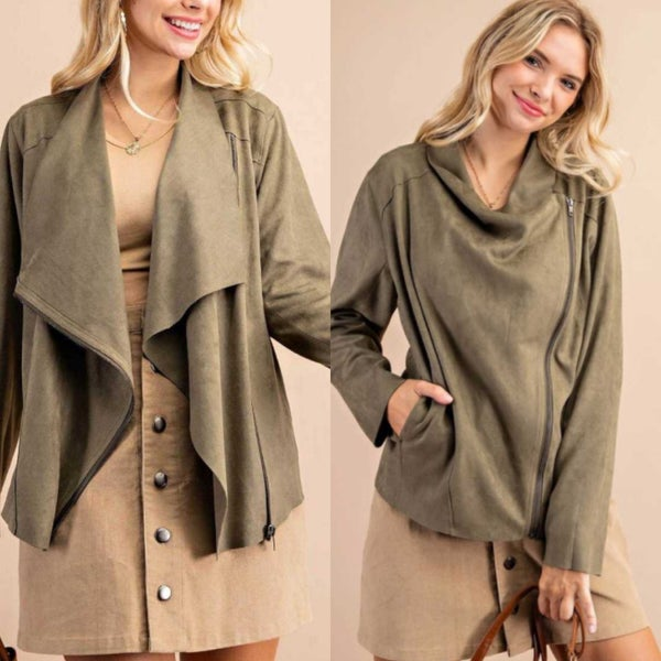 Olive Suede Jacket