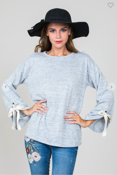 Lara Bow Tie Sleeve Sweater