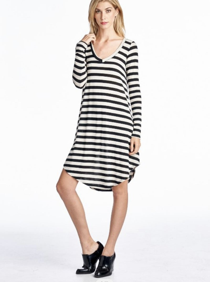 Victoria Striped Sweater Dress *Final Sale*