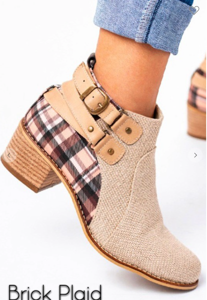 Plaid Lodge Bootie