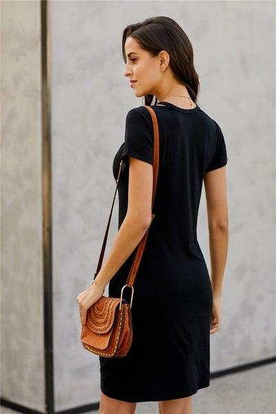 Jersey Twist T-Shirt Dress