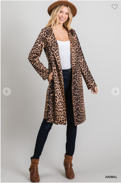 Leopard Holly Suede Jacket