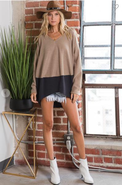 Colorblock Parker Sweater