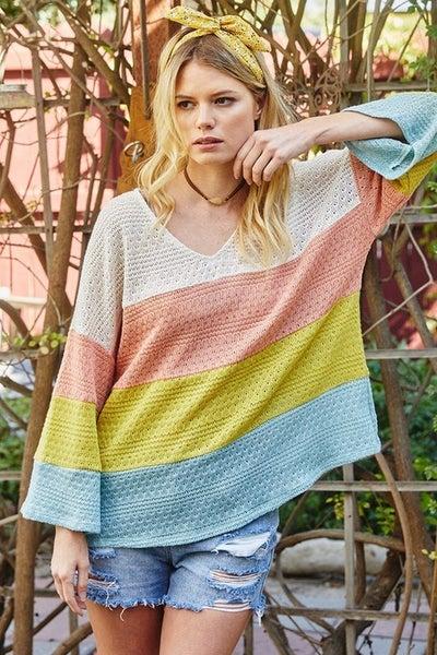 Nicole Color Block Top *Final Sale*