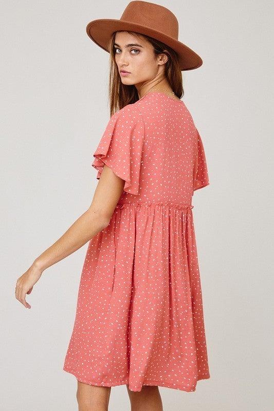 Button Front Beauty Dress