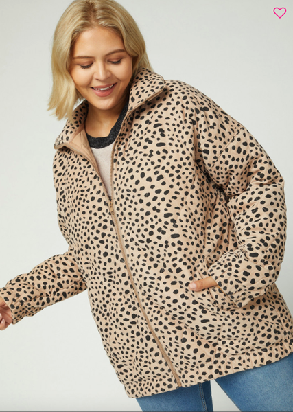 Quilted Leopard Bomber