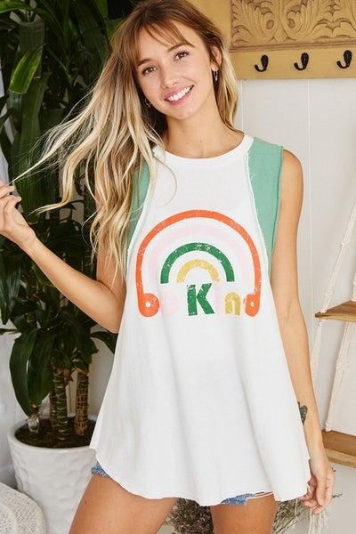 Be Kind Rainbow Tank