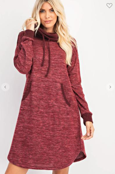 Drawstring Sweater Dress