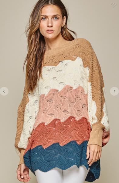 Madi Scalloped Sweater